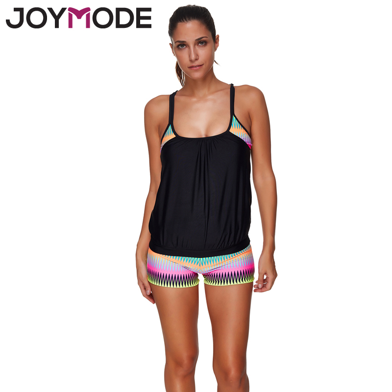 JOYMODE 2017  Athletics Hollow Out Swimwear Women Printed Tankini Set Swimsuit Push Up Straps Bathing Suit Beachwear Summer -A<br><br>Aliexpress