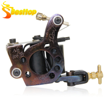 Professional Tattoo Machine 10 Wrap Coils Tattoo Liner And Shader Gun Handmade Machine MS-TM-6672