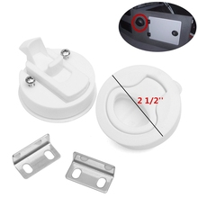 2pcs Hot 2'' White Flush Pull Slam Latch Marine Boat Locking Hatch Boat Rv Door Deck Hatch marine hardware