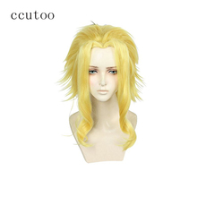 ccutoo My Hero Academia Boku no Hiro Akademia All Might Short Golden Synthetic Heat Resistant Cosplay Hair Wig(China)