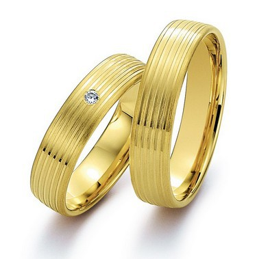 his and her wedding bands couples engagement Rings sets  for couples  yellow Gold Plating health titanium Fashion jewelry