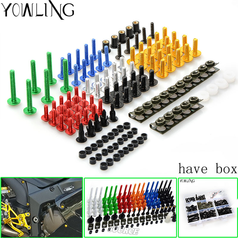 universal motorcycle Accessorie Fairing Bolt Screw Fastener For yamaha YZF R250/300 R25 R25 R3 MT-07 MT-09 KAWASAKI Z1000 YAMAHA<br>