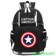 Captain America Anime Movie Backpack Youth Super Cartoon Backpacks Man Rucksack Schoolbag Flash Laptop School Men Shoulder Bag