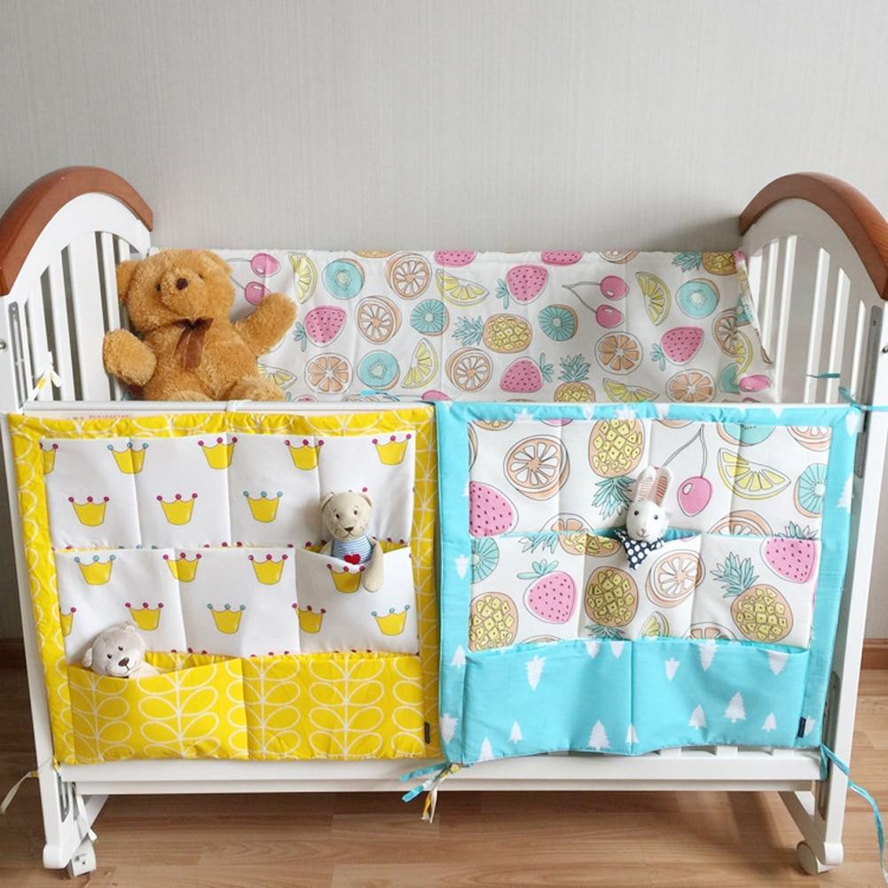 Bed Hanging Storage Bag Multi Functional Baby Bedding Muslin Tree Brand Cot Crib