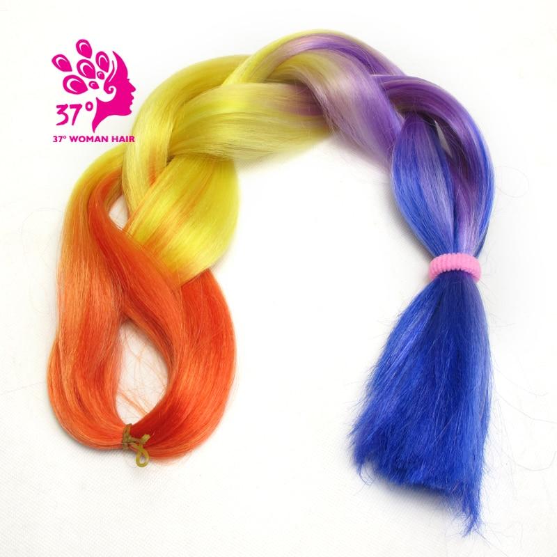 Ombre Kanekalon Braiding Hair box braids hair (133)