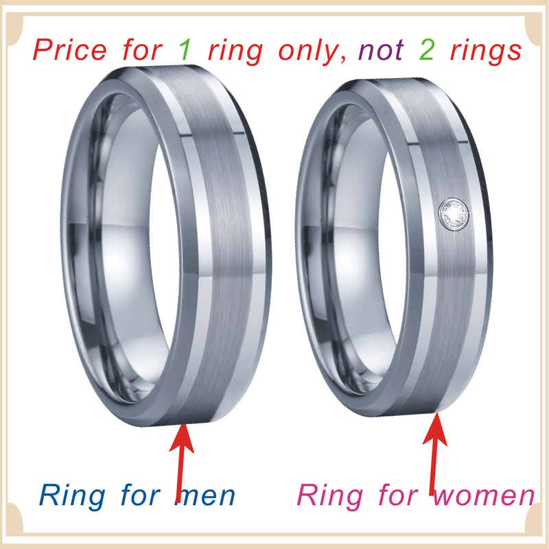 Handmade Tungsten Rings Silver Color Wedding Band Men's Rings Women's Ring For couples lovers  Alliance never fade (6)