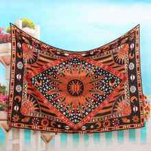 Bohemian Indian Mandala Tapestry 200x145cm Polyester Wall Hanging Throw Blanket Bedspread Dorm Cover Home Room Decor Accessories