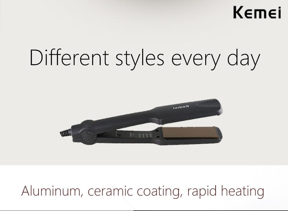 Kemei KM-329 Hair Straightening Iron 7