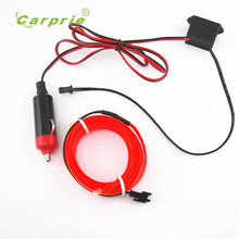 Car-styling 2M RED EL-Wire 12V Car Interior Decor Fluorescent Neon Strip Cold light Tape June1(China)