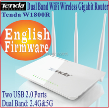 Eng-Firmware Tenda W1800R 802.11AC Dual Band 2.4G&5G Gigabit Wireless Router 1750Mbps WiFi USB2.0 Port 3 Antennas, No Box, PROM-(China)