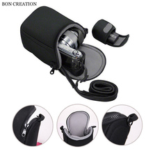 BON CREATION Mini Digital Video Camera Bag Cover for Sony X100T X100S X30 X-A1 X-A2 Camera Protective Case Pouch with Strap