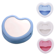 2 in 1 Universal Selfie Phone Ring Light Rechargeable LED Night Selfie Flash Light Heart Shape Clip+Phone Stand Holder+Mirror(China)