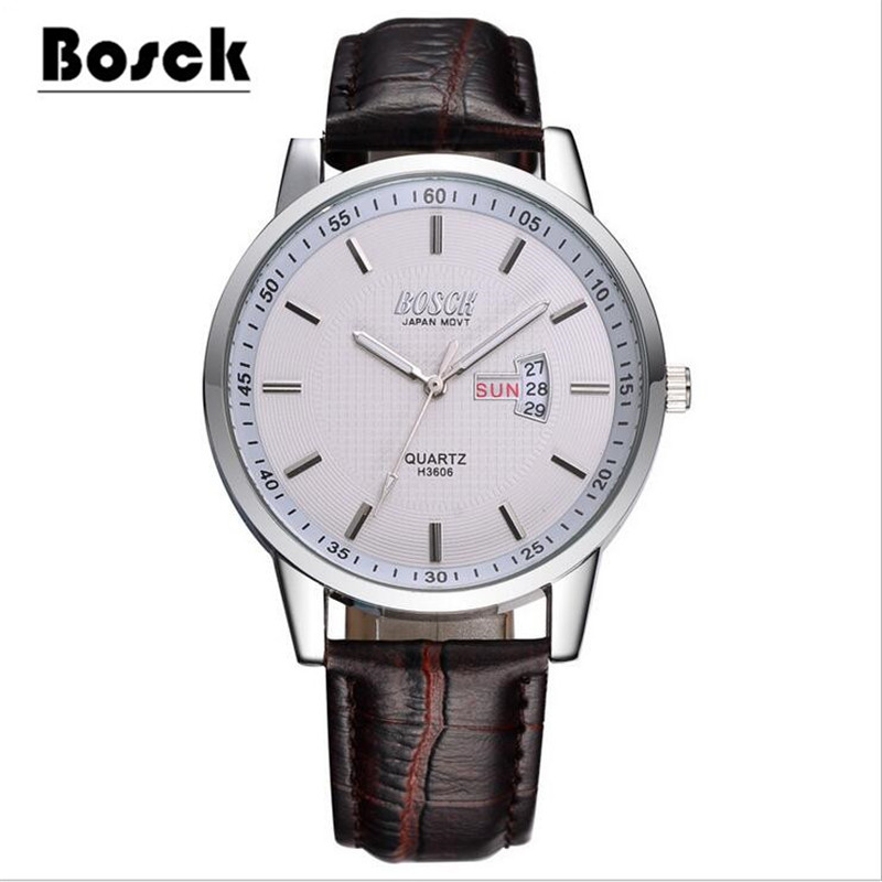 High-end waterproof mens watch business casual dual-use male watch<br>
