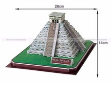 MAYA PYRAMID 45 Pieces 3D Paper Puzzle Model SMB PUZZLE011