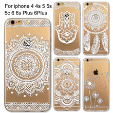 Phone Cases for Apple iPhone 6 6S 6Plus 6s Plus 5 5S SE 5C HENNA DREAM CATCHER Ethnic Tribal TPU Silicon Covers Capa Back