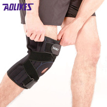 AOLIKES 1PCS Adjustable Hinged Wraparound Knee Brace Patella Compression Knee Supports Kneepad Relief for Football Basketball(China)
