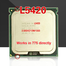 lntel Xeon L5420 2.5GHz 12M 1333Mhz CPU equal to Core 2 Quad Q9300 CPU works on LGA775 motherboard