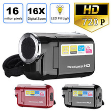 Video Camcorder HD 720 P Handheld 16 Miljoen Pixels Digitale Camera LED Flash 4x Digitale Zoom 2.0 Inch 19Mar28(China)