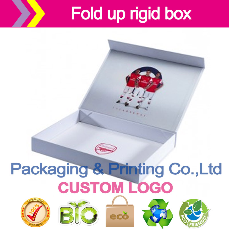 Fold up rigid box customized logo Print, laminate, machine make cardboard gift boxes paper packaging boxes printing inside box(China (Mainland))