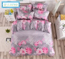 BEST.WENSD jacquard bedclothes Duvet Cover+Bedsheet+Pillowcases king single housse de couette adulte wedding decoration bedding(China)
