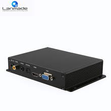 Lanmade Free warranty for 1 year VGA/H DMI output 1080P media player in Set Top Box(China)