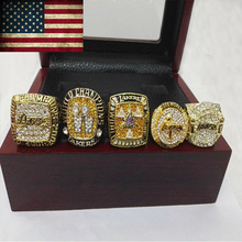 5pcs/set For Kobe Bryant and Shaquille O'Neal 2000 2001 2002 2009 2010 Lakers Basketball Championship Rings custom basketball(China)