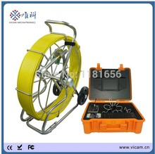 Heavy duty  push rod waterproof drain sewer tube inspection camera with 40mm 512hz sonde camera and meter counter function