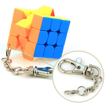 Cubing Classroom Key Chain 3CM 3x3 Magic Cube Creative Cube Hang Decorations - Colorful(China)
