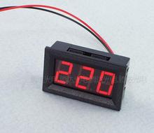 1pcs High Quality 0.56 inch LED AC 70-500V Digital Voltmeter Home Use Voltage Display w/ 2 Wires Red Free Shipping & Wholesale