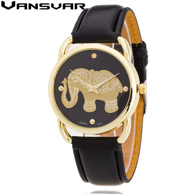 Vansvar 2016 New Fashion Elephant Watch Casual Women Quartz Watch Relogio Feminino Clock V05<br><br>Aliexpress