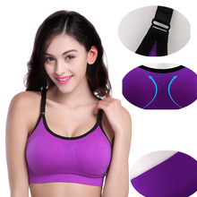 B.BANG Women Fitness Bra Shockproof Breathable Stretch Bras No Bound Push Up Bras With Padding Casual Workout Ropa Deportiva(China)