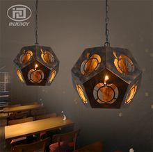 Loft Retro Industrial Kaleidoscope Edison Droplight Single Head Cafe Bar Restaurant Diamond Lighting Iron Carved Pendant Lamp