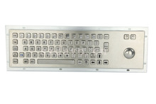 Stainless steel keyboards Metal Kiosk Keypad with Trackball mechanical keyboards
