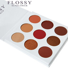 FLOSSY SUNFLOWER Make Up Burgundy Eyeshadow Brand Pallete Kyshadow 9 Color In 1 Cosmetics Shimmer Matte Makeup Eyeshadow Palette