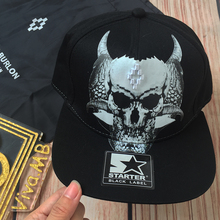 IN STOCK MB MARCELO BURLON 2017SS STARTER SKELETON BULL SWEATSHIRT CAP SNAPBACK BASEBALL ADJUSTABLE SIZE(DUSTBAG INCLUDING)(China)