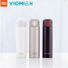 Buy Original Xiaomi Mijia VIOMI Thermos Stainless Steel cup Flask Water Bottle Cup 24 Hours Thermos 300ML Single Hand ON/Close for $18.99 in AliExpress store