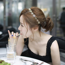Sunshine fashion flower hair headband Accessories new fashion hollow out rose hair jewelry Hairbands gold color for women