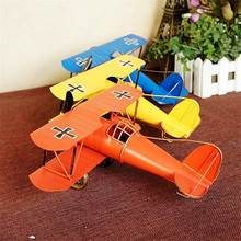 Large Metal Airplane Model Metal Craft Vintage Airplane Children's Gift Toys Home Office Decoration Prop Accessory