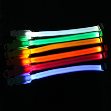 NEW Small-Scale Safety Pet Dog Collar 18-28cm LED Nylon Collar Light-up Flashing Glow(China)