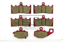 Brake Pads Ceramic For Front + Rear KAWASAKI ZZR 600 (J4) ZX 600 2005 OEM New High Quality ZPMOTO(China)