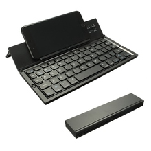 Portable Wireless Keyboard Foldable Bluetooth Keyboard for Table PC Laptop Mini Keypad QWERTY Holder for IOS for Android Windows(China)