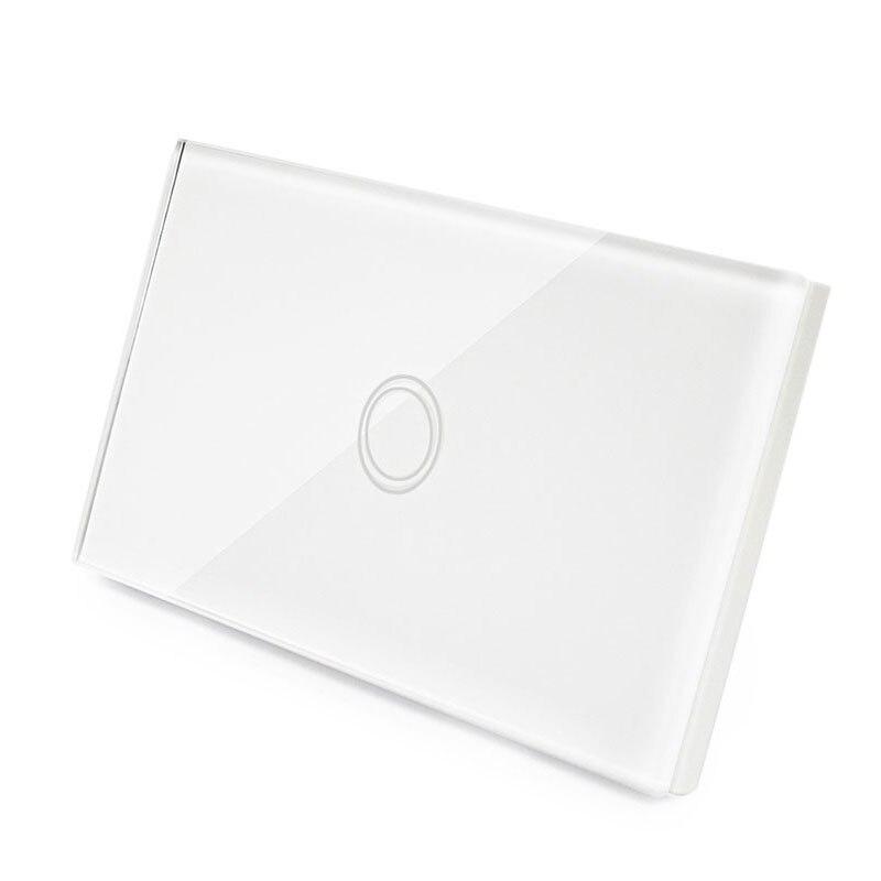 US Standard Remote Control Switch 1 Gang 1 Way ,RF433 Smart Wall Switch, Wireless remote control touch light switch<br>