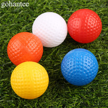 10 Pieces (1 lot) 41mm Golf Hollow Balls without Holes Outdoor Sports Training Plastic Golf Balls 5 Colors Golf Practice Balls