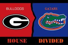 Georgia Bulldogs vs Florida Gators house divided flag 3ftx5ft Banner 100D Polyester Flag metal Grommets digital print