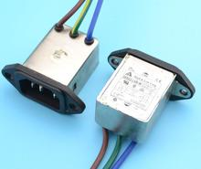 2pcs panel mounting 3 pins ac socket 8A EMI filter 115/250VAC 8A 50/60Hz High & Low Corp. EMI power filter Connector