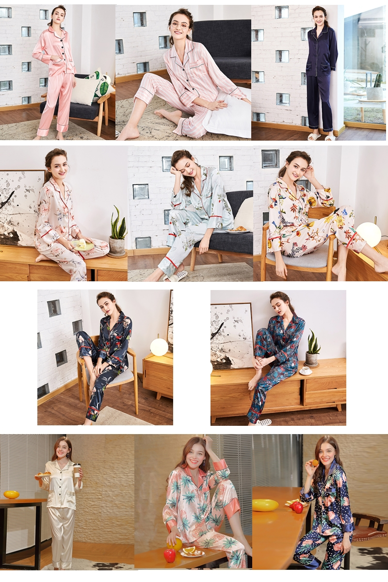 luxury silk-like sleepwear spring