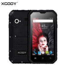 XGODY G14 3G Unlocked Mobile Phone Android 6.0 MTK6580M Quad Core 1+8G 960*540 IPS 4.7 Inch Telephone IP68 Waterproof Shockproof(China)