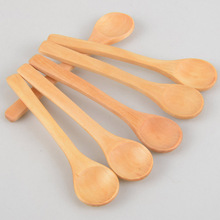 6 Pieces / Lot Mini Wooden Spoon Kitchen Cooking Teaspoon Condiment Utensil Coffee Spoon Kids Ice Cream Tableware Tool P20