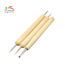 Ball Styluses Tool for Embossing Pattern Clay Sculpting Modeling Making Polymer Clay Tool Kit Pottery Ceramic Tools(China)