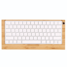 SAMDI Bamboo Wireless Keyboard Stand Dock Holder Stents for Apple Mac Magic Keyboard Wood Craft Durable Elegant Keyboard stand
